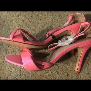 Neon pink Express heels